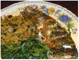 Recipe 2 is Rainbow Trout with Ginger, Garlic & Chilli