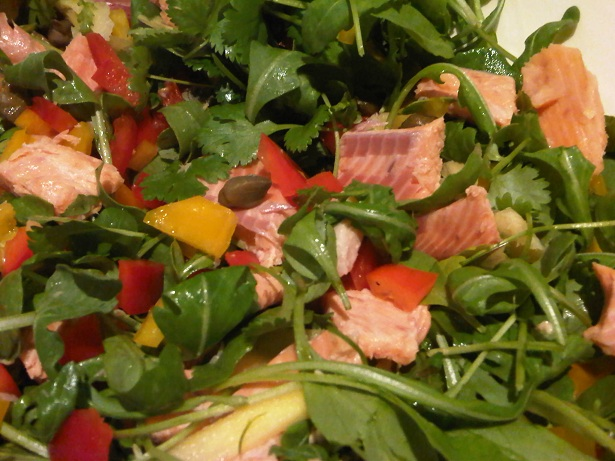 trout and ginger salad