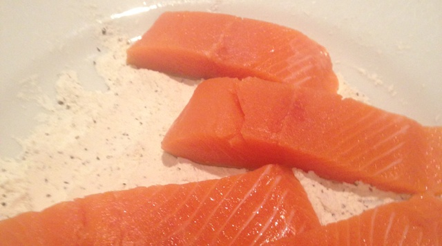 Olly preparing delicious trout