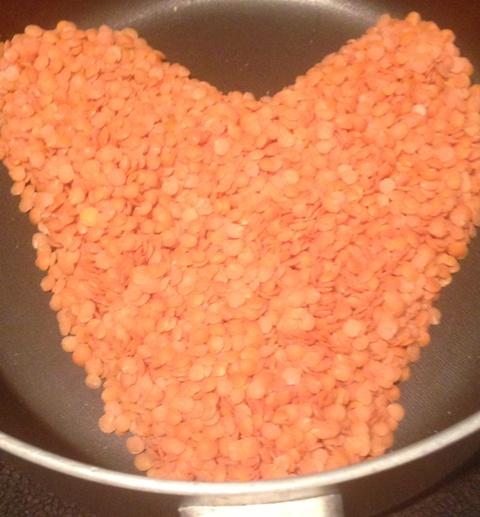 Valentine trout lentil heart