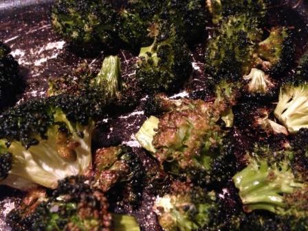 crispy oven-baked brocoli