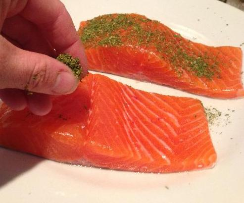 seasoning your trout fillets